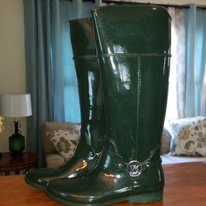 Michael Kors Shoes - Green Michael Kors Fulton Rain Boots